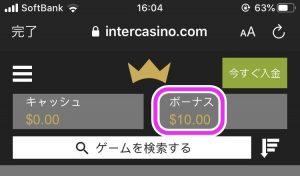 インターカジノ登録方法画面10