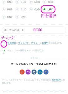 カジノX登録画面4